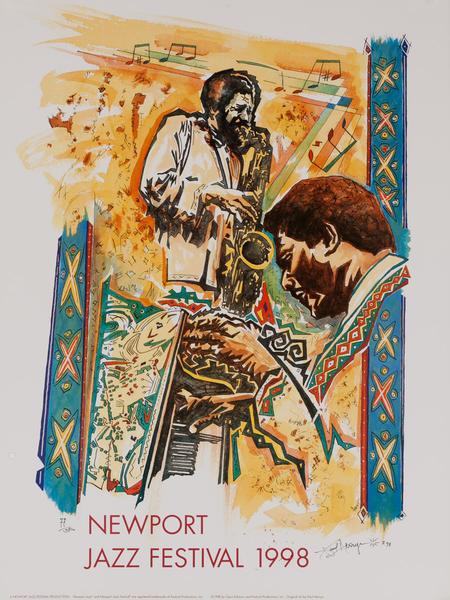 Newport Jazz Festival Original Concert Poster, 1998