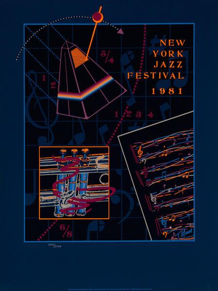 New York Jazz Festival Original Concert Poster, 1981