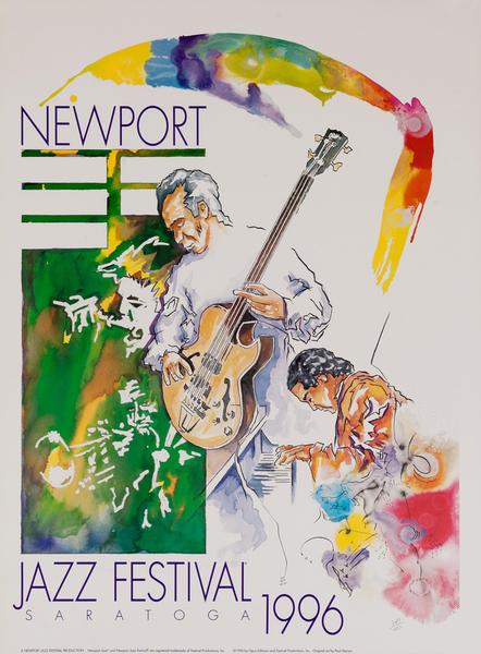 Saratoga Jazz Festival Original Concert Poster, 1996