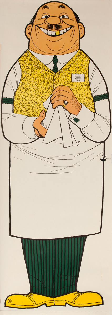 Original Harold's Club Casino Poster, Introduces Gus