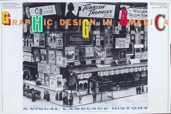 Graphic Design in America Original Gallery Poster