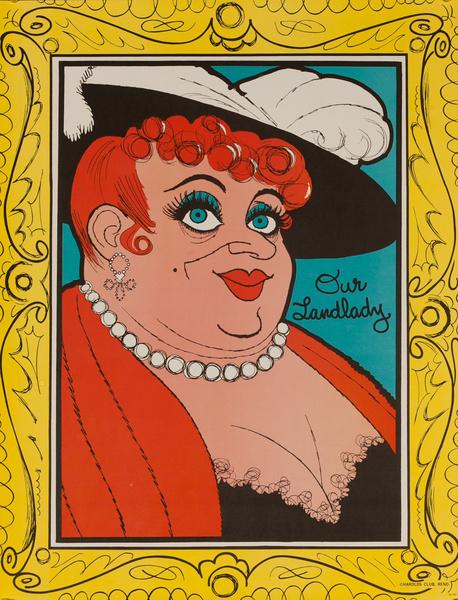 Original Harold's Club Casino Poster, Our Landlady