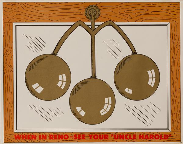 "Original Harold's Club Casino Poster, When in Reno See Your ""Uncle Harold"""