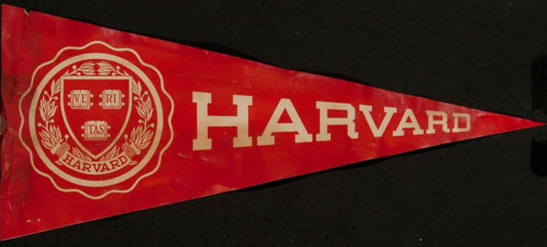 Original Harvard University Luggage Label