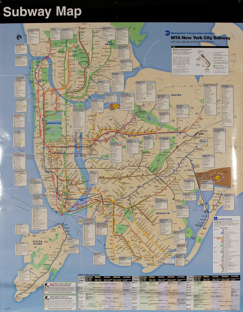 2002 New York City Subway Map Original Vintage Subway Map Poster