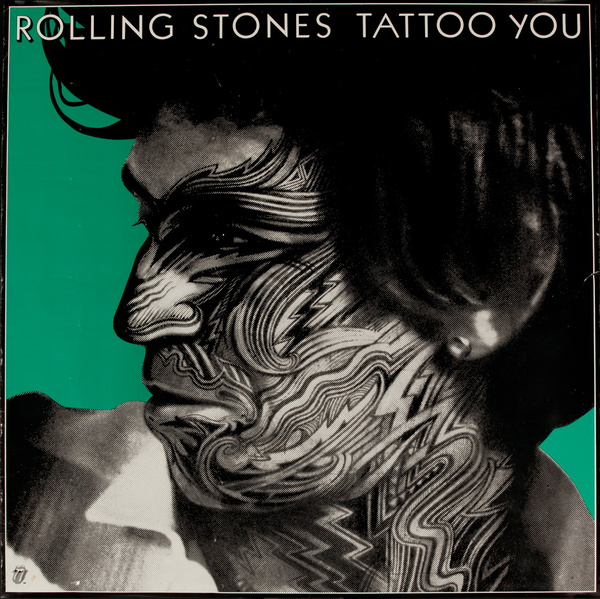 Rolling Stones Tattoo You Original Music Store Display Poster, Keith Richards