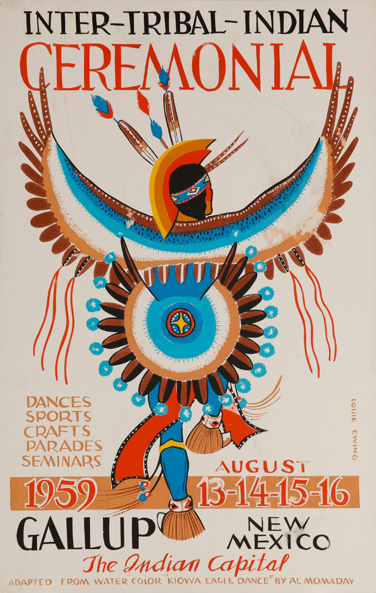 Original 1959 Poster, Inter-Tribal Indian Ceremonial, The Indian Capital - Gallup New Mexico