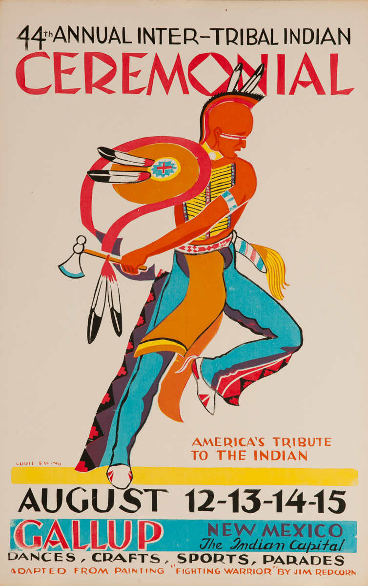 Original 1965 Poster, 44th Annual Inter-Tribal Indian Ceremonial, The Indian Capital - Gallup New Mexico