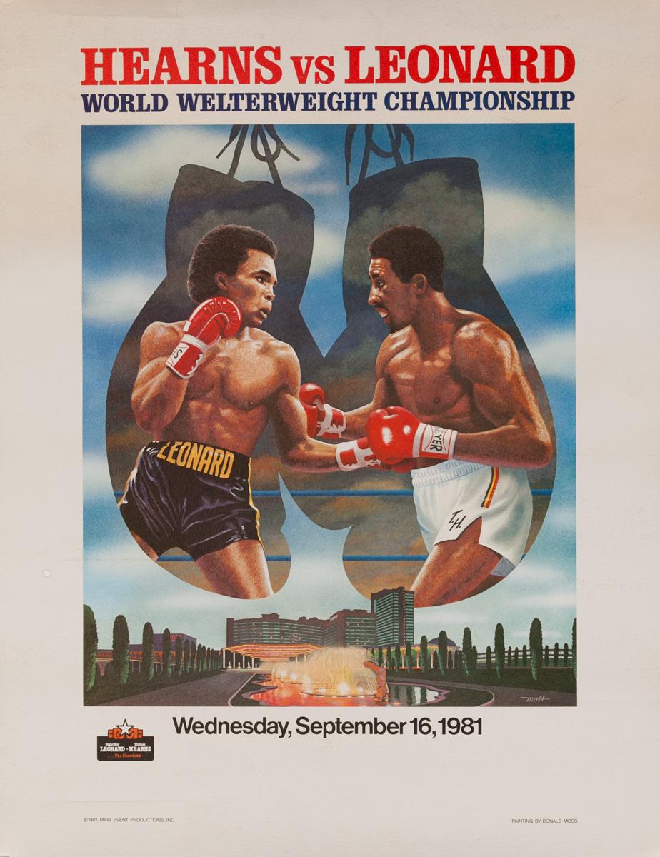 Hearns Vs Leonard Original Boxing Poster