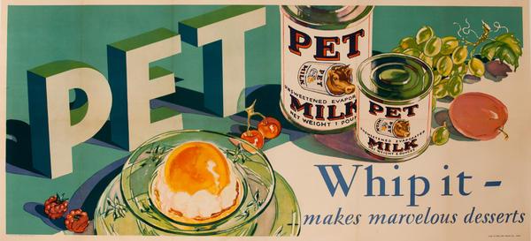 Pet Milk, Whip It Original American Advertising Poster