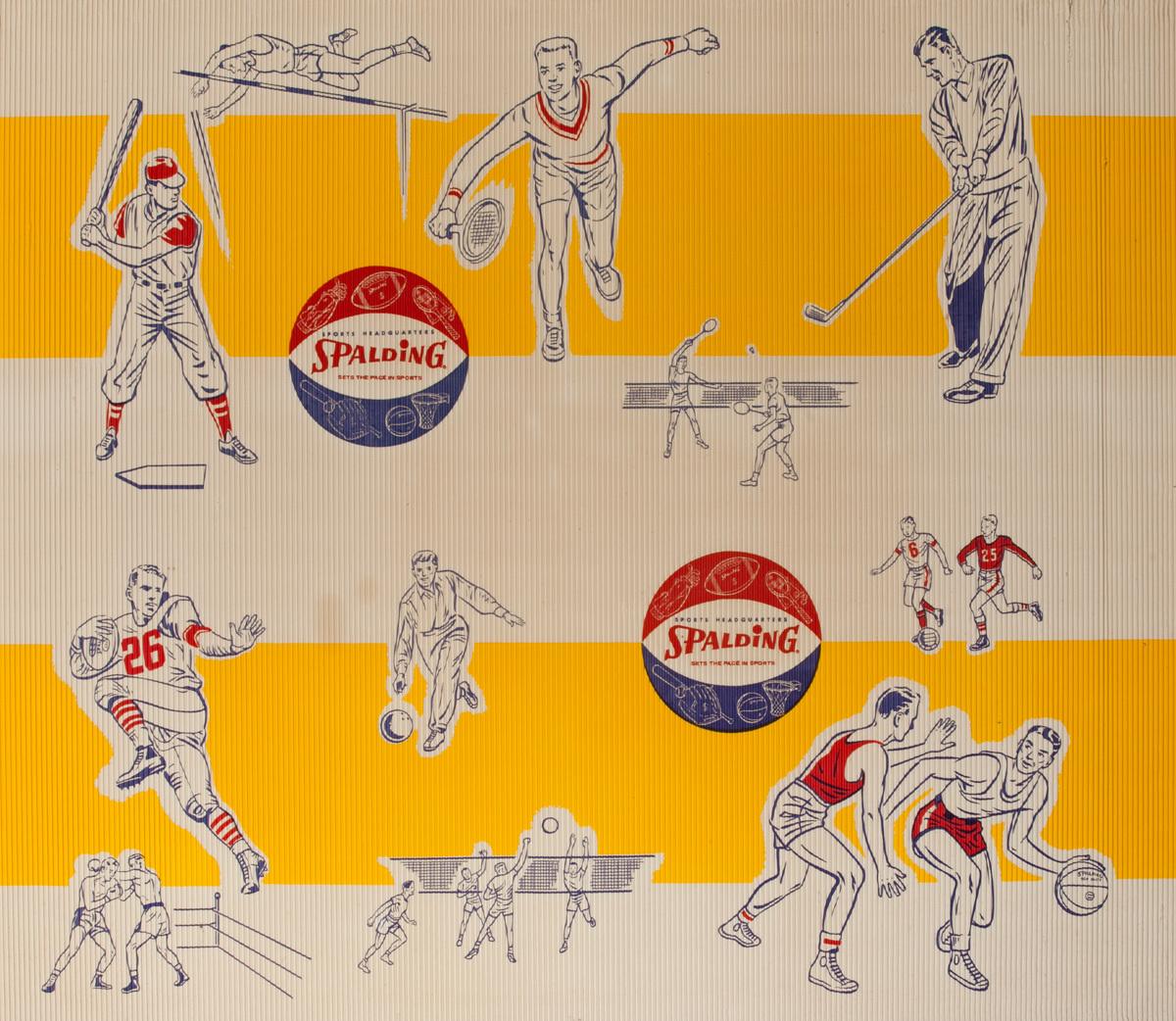 Spaulding Sporting Equipment Original Advertising Poster