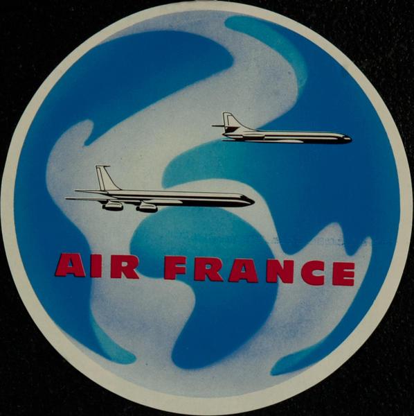 Original Air France Luggage Label, Round 2 planes