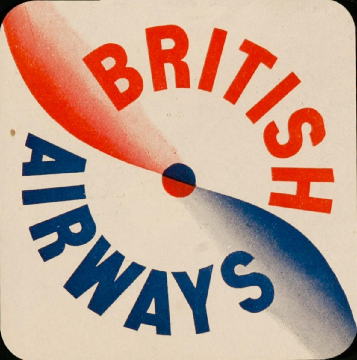 Original British Airways Luggage Label Propellor