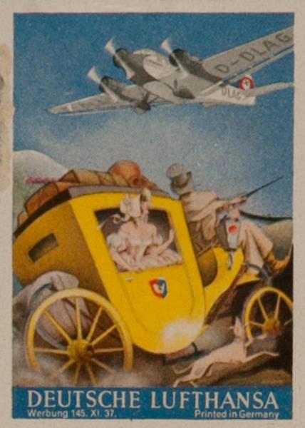 Original Deutsche Lufthansa Luggage Label Carriage