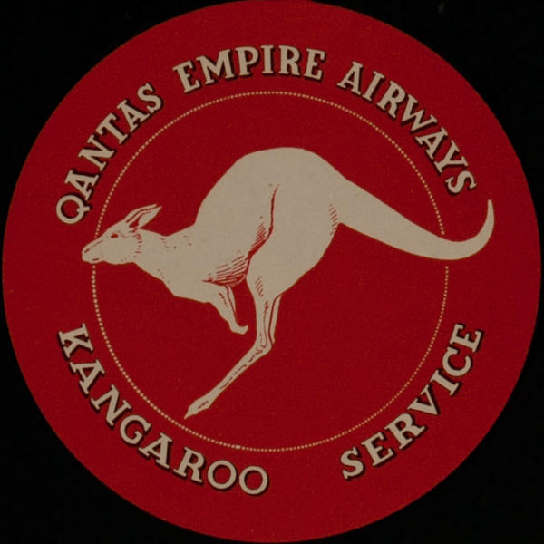 Qantas Empire Airways Original Luggage Label Kangaroo Service