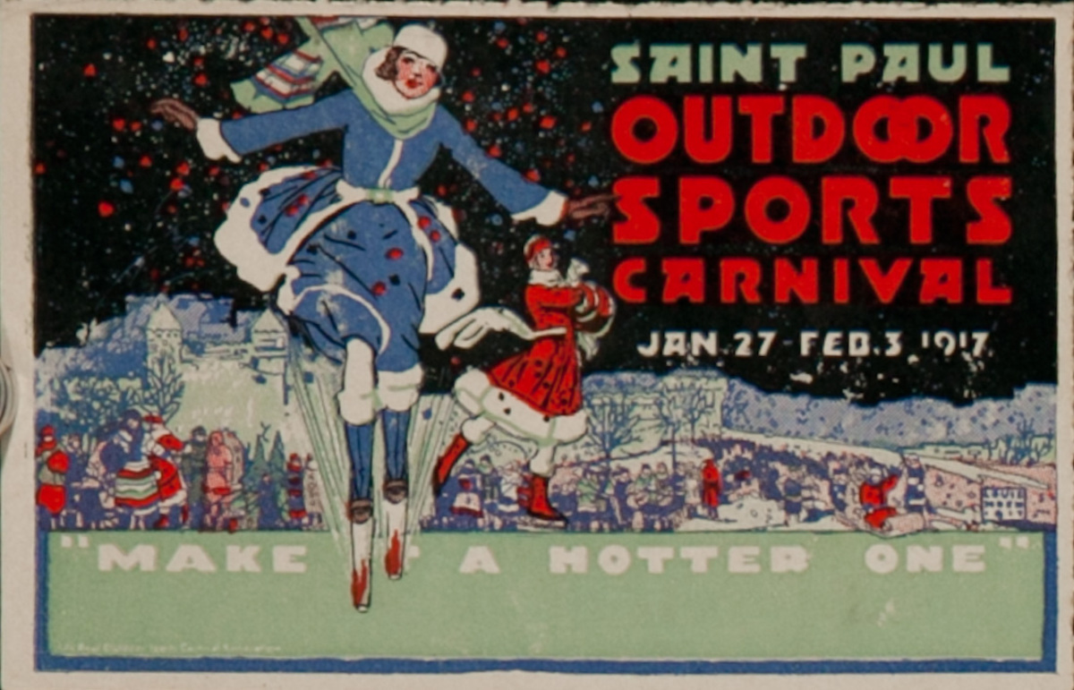 Saint Paul Outdoor Sports Carnival, Make a Hotter One, Original Luggage Label