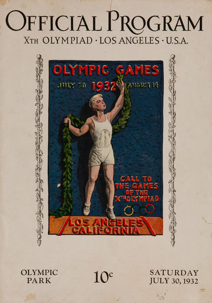 Original 1932 Los Angeles Olympics Official Program