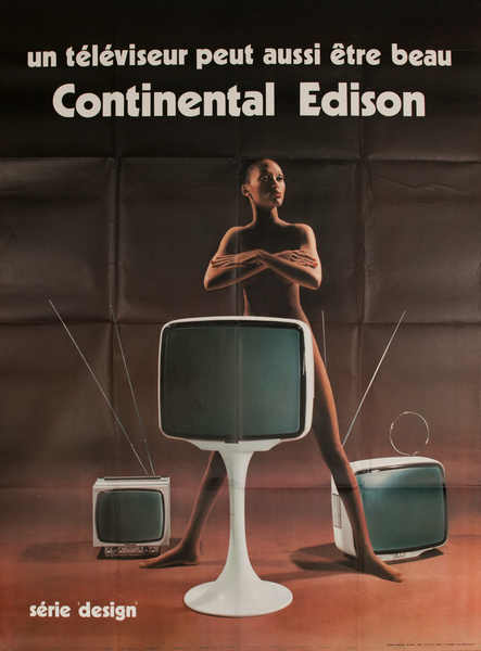 A Television Can Also be Beautiful, Original Continental Edison French Advertising Poster