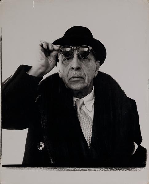 Original Richard Avedon Work Print, Igor Stravinsky