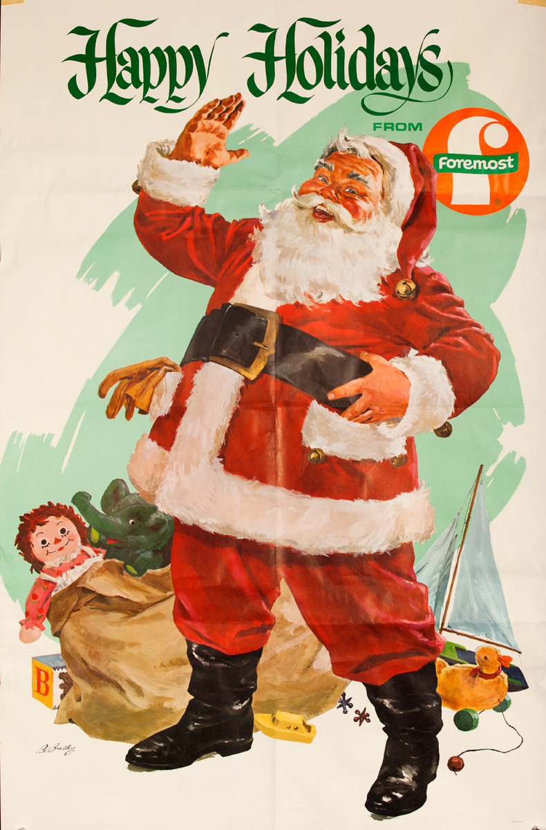 Happy Holidays from Foremost Original Santa Poster