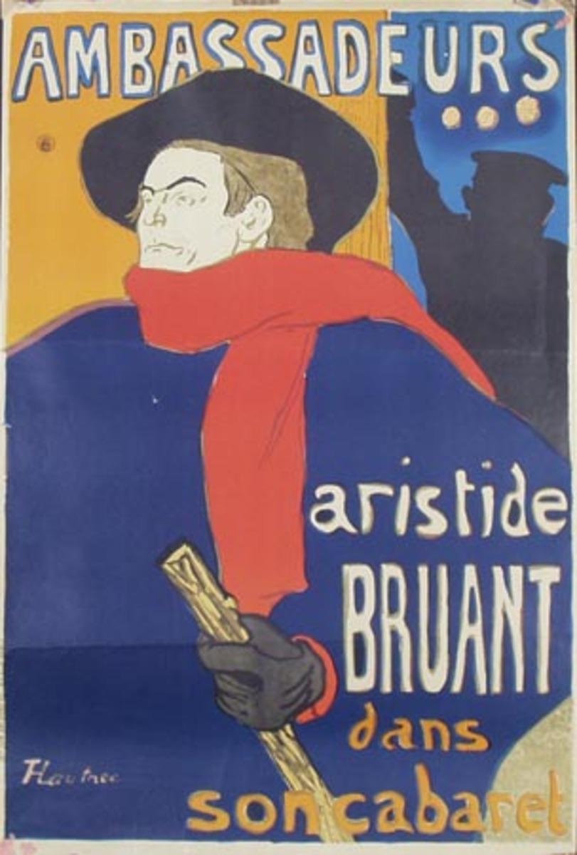 Ambasadeurs Arastide Braunt Toulouse Lautec Litho Art Poster
