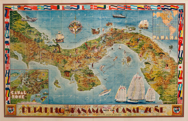 Pictorial Map of the Panama And the Canal Zone Original Poster