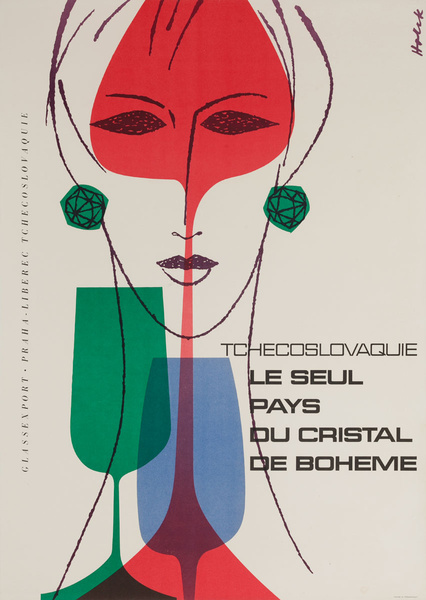 Tchecoslovaquie - Le seul pays du cristal de Boheme, Original Czech Travel Poster