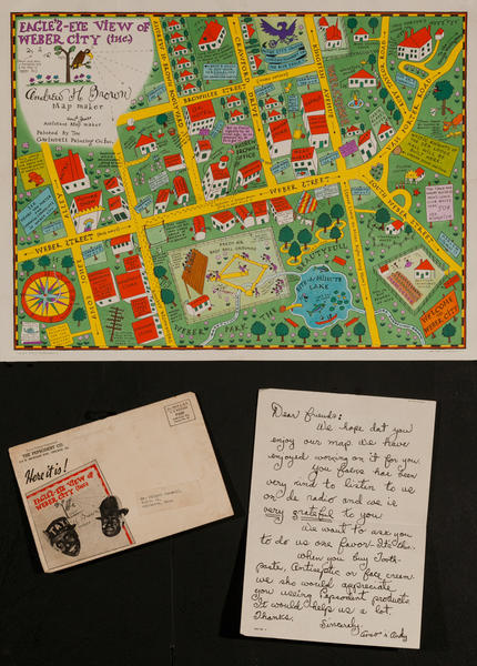 Eagle's Eye View of Weber City, Original Amos and Andy Souvenir Map