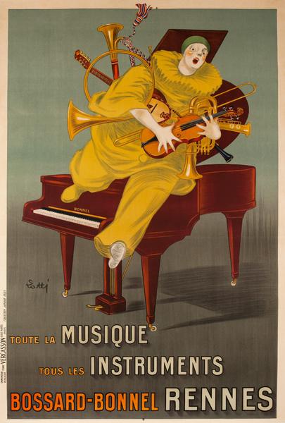 Toute La Musique, Tous les Instruments, Bossard Bonnal Rennes Original French Advertising Poster