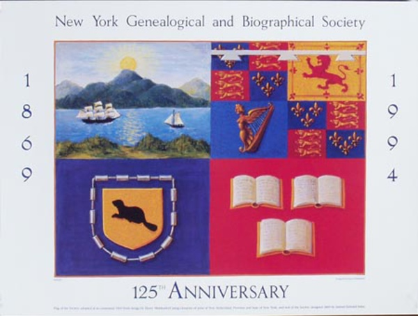 NY Geneological Society 125th Anniversery Original Gallery Poster