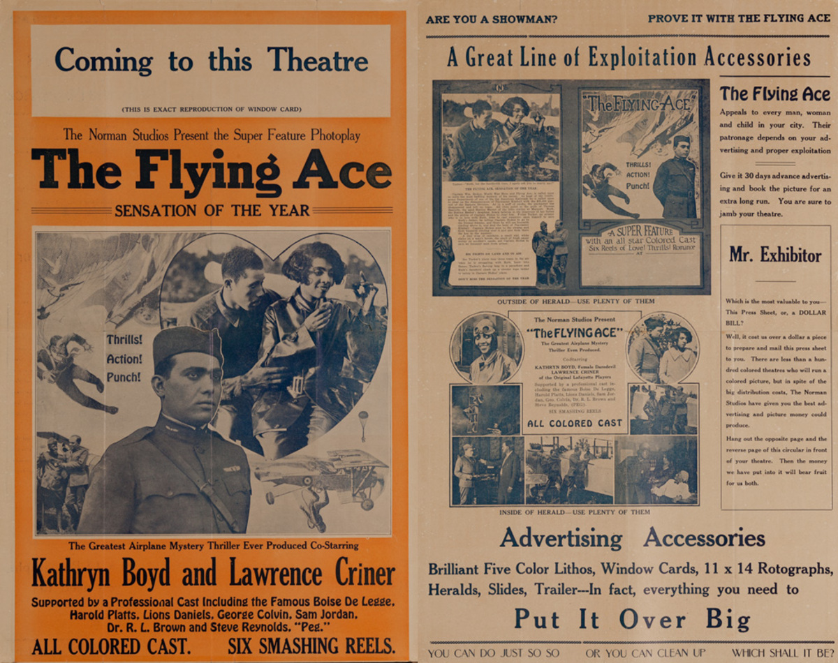 The Flying Ace, Original All Colored Cast Movie Pressbook