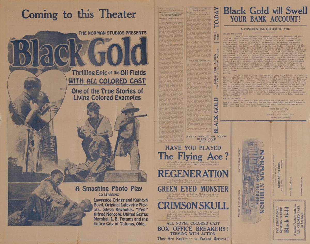 Black Gold, Original All Colored Cast Movie Press Sheet