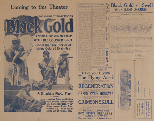 Black Gold, Original All Colored Cast Movie Press Sheet
