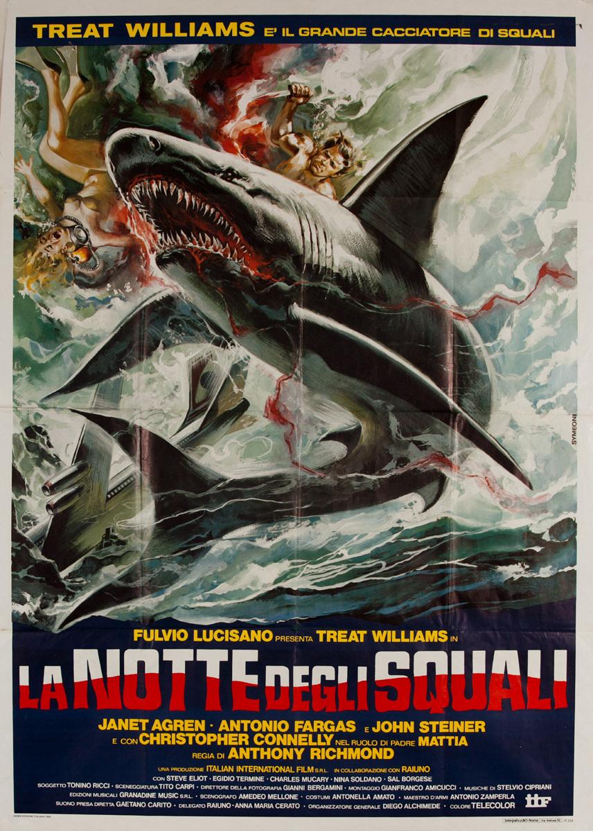 The Night of the Sharks, La Notte Degli Squali Original French Movie Poster