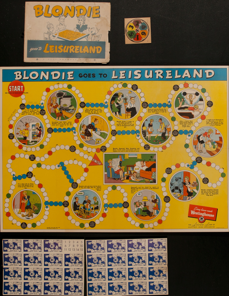 Blondie Goes to Leisureland Orginal Westinghouse Appliance Premium Game Board