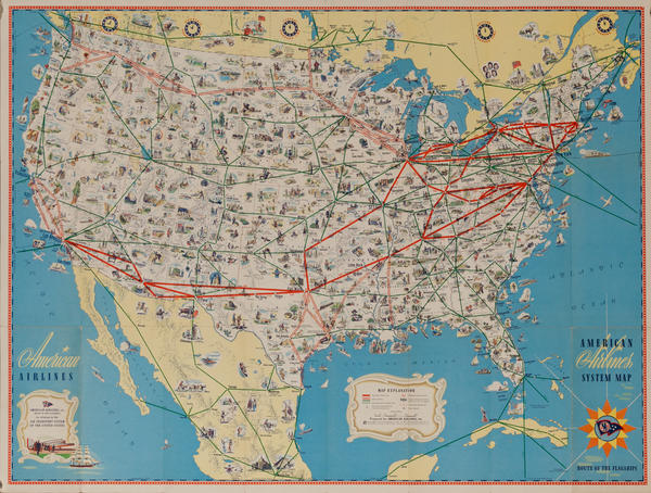 Original American Airlines Route Map
