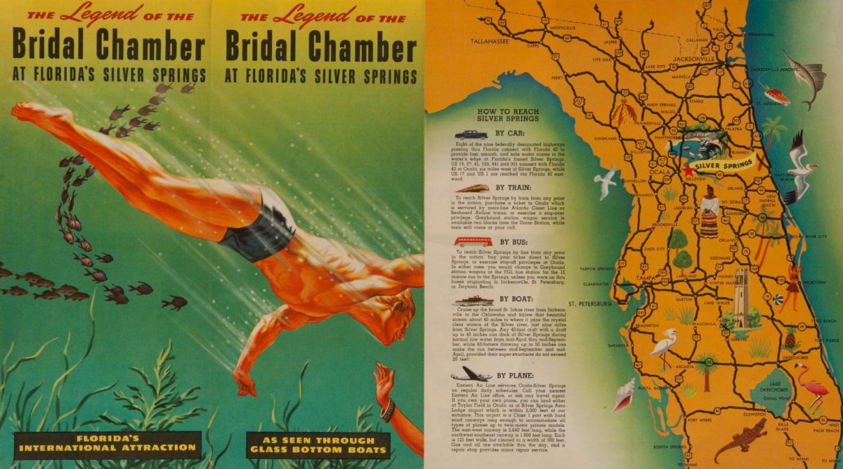 The Bridal Chamber at Florida's Silver Springs, Original Travel Brochure