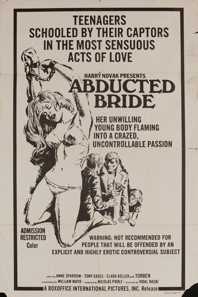 The Abducted Bride, Original American X Rated Adult Movie Poster