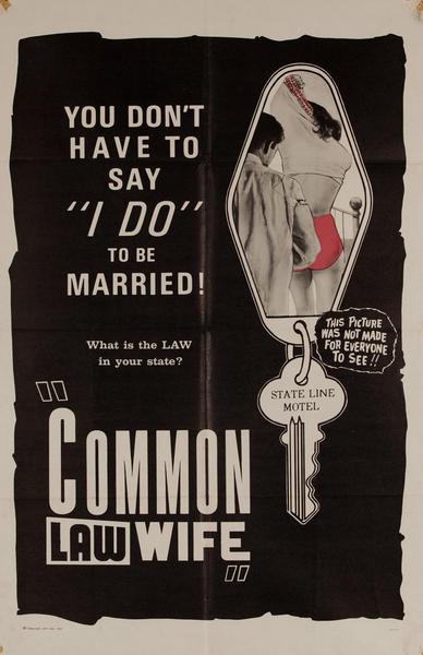 Common Law Wife, Original American X Rated Adult Movie Poster