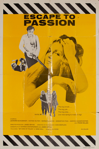 Escape to Passion, Original American X Rated Adult Movie Poster
