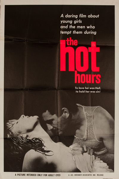 The Hot Hours, Original American X Rated Adult Movie Poster