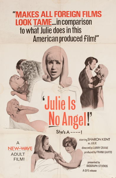 Julie Is No Angel, Original American X Rated Adult Movie Poster