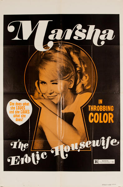 Marsha, The Erotic Housewife, Original American X Rated Adult Movie Poster