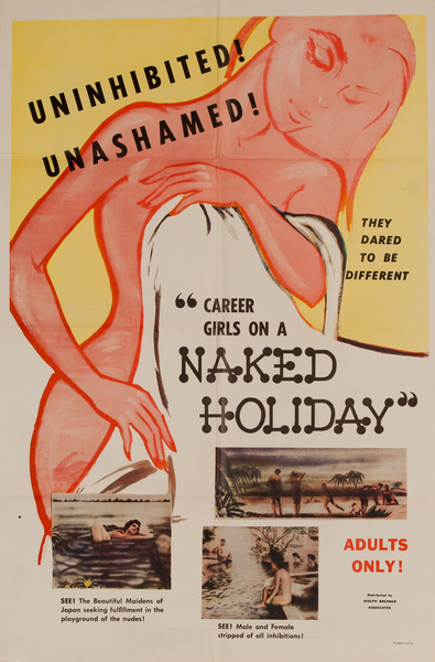 Career Girls on a Naked Holiday, Original American X Rated Adult Movie Poster