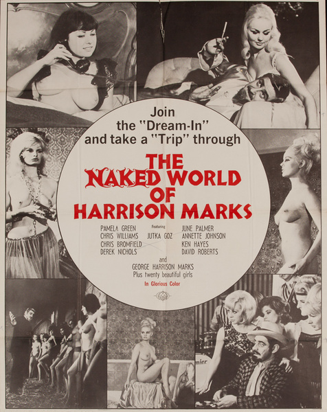 The Naked World of Harrison Marks, Original American X Rated Adult Movie Poster