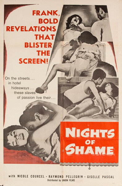 Nights of Shame, Original American X Rated Adult Movie Poster