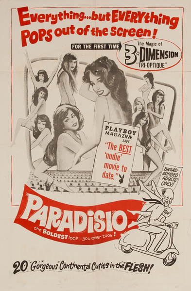 Paradiso, Original American X Rated Adult Movie Poster