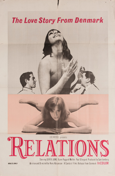 Relations Original American X Rated Adult Movie Poster