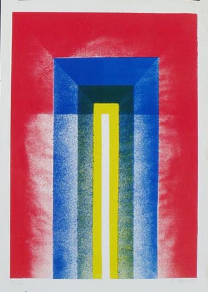 Rectangles in Color Original Art Litho