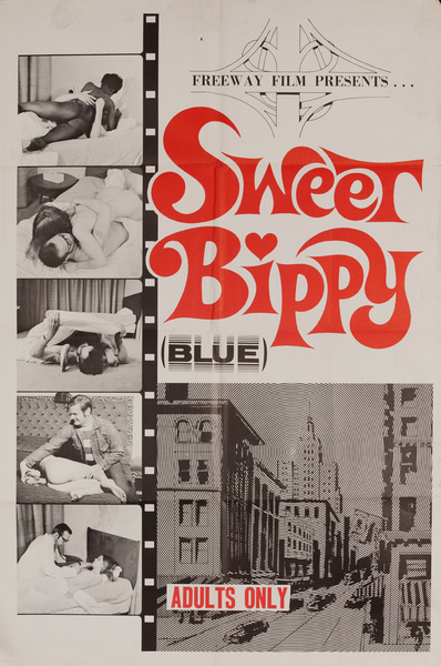 Sweet Bippy (Blue), Original American X Rated Adult Movie Poster